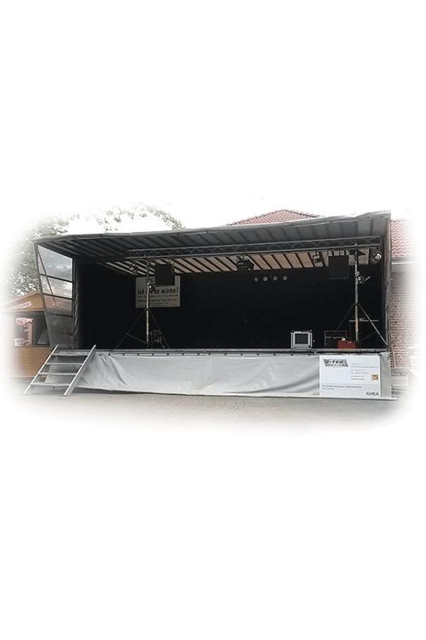 Bühne grau